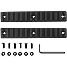 "Monstrum Tactical Mid Length (13 Slot/5.25"") Picatinny Rail for Keymod Systems (Black x 2)"