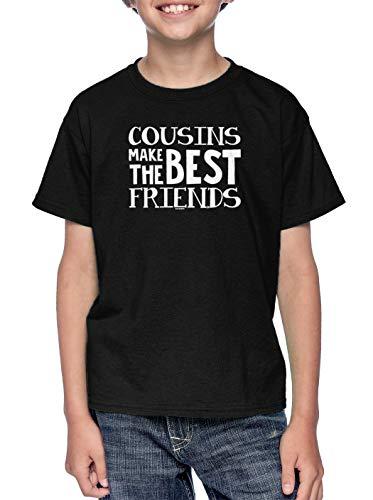Cousins Make The Best Friends - Matching Youth T-Shirt (Black, ()