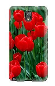 High Quality Shock Absorbing Case For Galaxy Note 3-red Flowers
