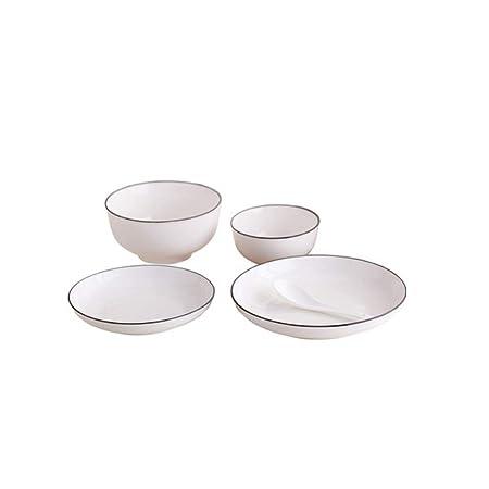 Xiaoningmeng Tazón, tazón (5 Piezas) Tazón de Porcelana + Se Puede ...