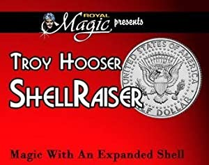 Shell Raiser By Troy Hooser - Magic with an Expanded Half Dollar Shell Coin