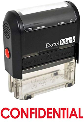 Confidential Ink Stamp - CONFIDENTIAL Self Inking Rubber Stamp - Red Ink