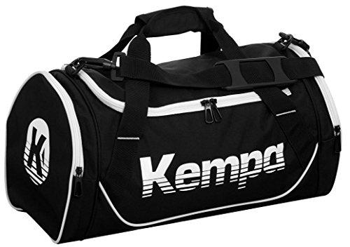 Kempa Kinder Sporttasche KIDS small 49 x 26 x 24 cm + Trinkflasche schwarz/weiß