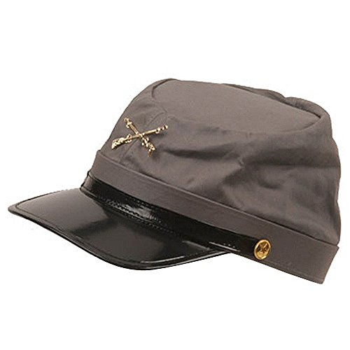 Adult Confederate Soldier Costumes - Grey Confederate Hat Soldier Federal Army Kepi Mens Civil War Costume Accessory