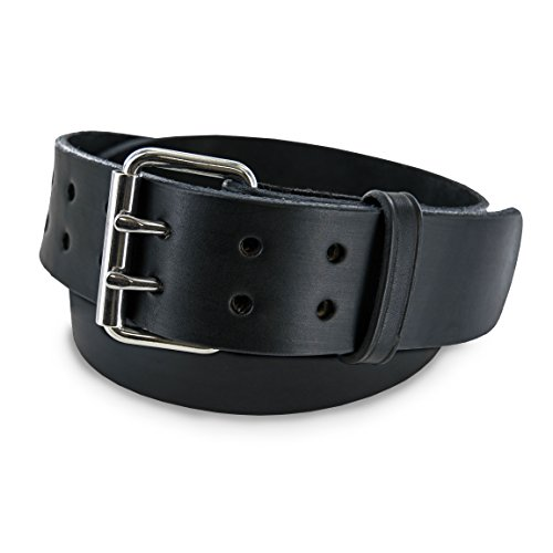 Hanks CCW Belts - The Marshall - USA Made Leather Gun Belt - Concealed Carry - 2In - blk 42 ()