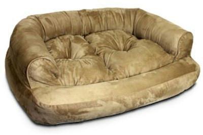 Snoozer Overstuffed Luxury Pet Sofa, X-Large, Peat, My Pet Supplies