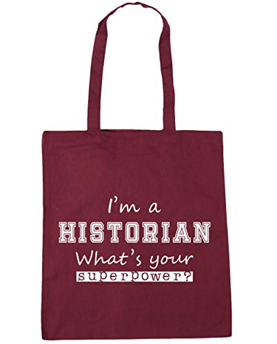 Beach What's Superpower Gym Tote 10 Your A Bag x38cm Shopping I'm Burgundy litres Historian 42cm HippoWarehouse ztnCwfqx