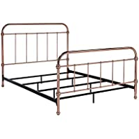 HOMES: Inside + Out IDF-7739Q Paruza Metal Bed, Queen