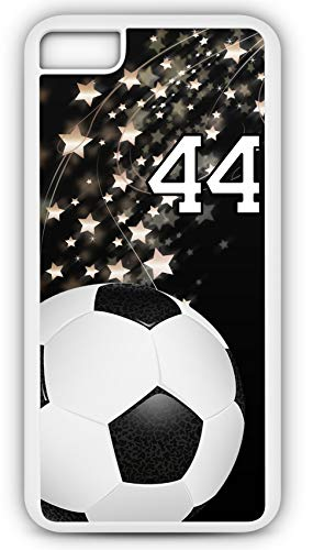 iPhone 6s Phone Case Soccer SC018Z by TYD Designs in White Rubber Choose Your Own Or Player Jersey Number 44