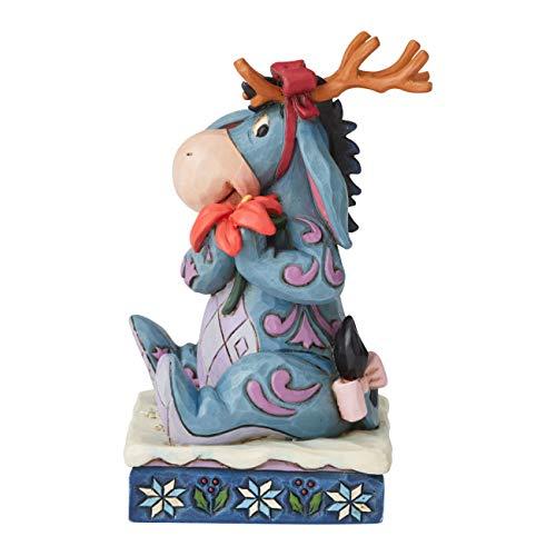 Enesco Disney Traditions by Jim Shore Winnie The Pooh Eeyore Christmas Personality Pose Figurine, 4.5 Inch, Multicolor