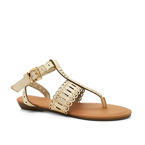New Look - Zapatos con tacón mujer Dorado - dorado