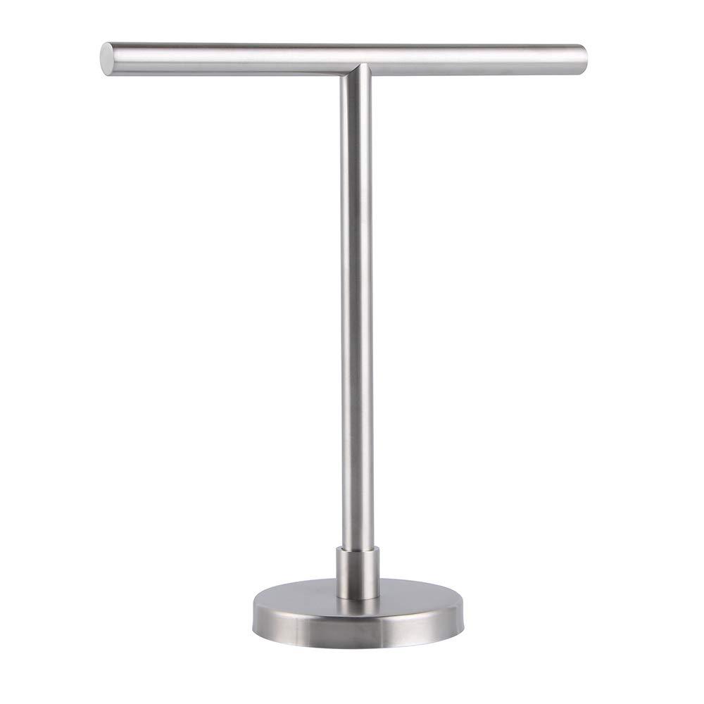 SUS 304 Stainless Steel Hand Towel Holder Standing Tree Rack for Bathroom Vanities Countertop, Brushed Finish