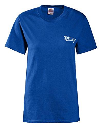 Cute n' Country Women's Sweet as Sugar Hard as Ice ... Shirt M Royal Blue