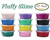 (US) Anditoy 12 Colors Fluffy Slime Soft Super Light Clay Floam Slime Toy for Kids, DIY, Party Favors