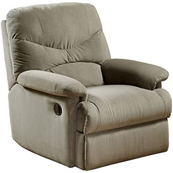 Wall Hugger Microfiber Recliner Adjustable Chair for Living Room - Multiple Colors (Sage)