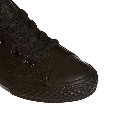 Converse Chuck Taylor All Star Junior White Leather Trainers Black Mono