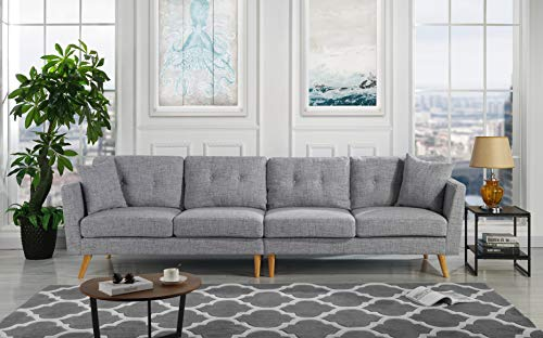 "Upholstered Large Fabric Sofa, 114.9"" W inches (Light, used for sale  Delivered anywhere in USA"