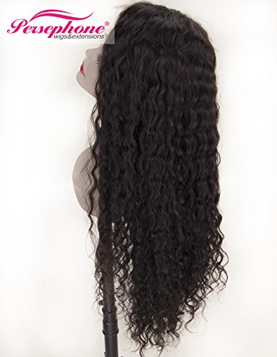 Persephone Real Looking Pre Plucked 360 Lace Wig with Baby Hair 150% Density Brazilian Curly Lace Front Human Hair Wigs for Black Women 14inches Natural Brown Color by Persephone Lace Wig (Image #1)