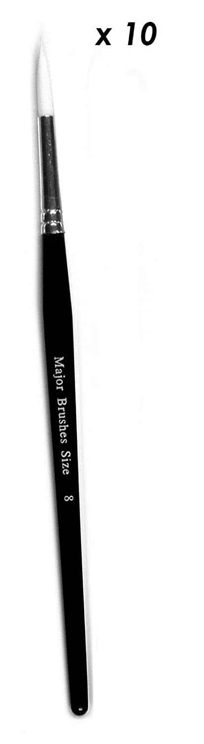 727e0192a520 Major Brush Pack Of 50 Artist Sable Paint Brushes Various Sizes School Pack  by Major Brushes Pintura