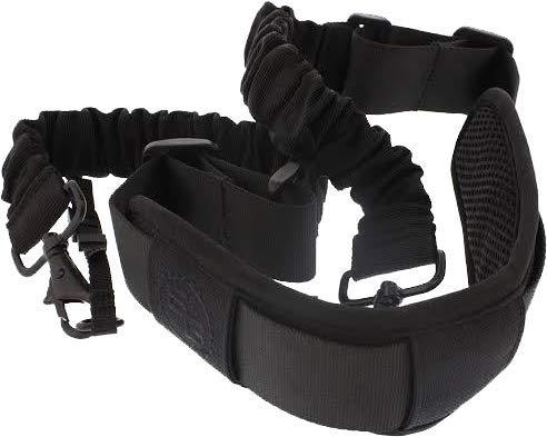 StatGear BOOMR-BLK Boomr Bungee Camera Strap, Black/Black