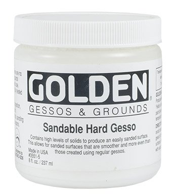 Golden Acrylic 8 Oz Sandable Hard Gesso by Golden