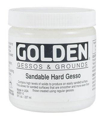 Golden Acrylic 8 Oz Sandable Hard Gesso