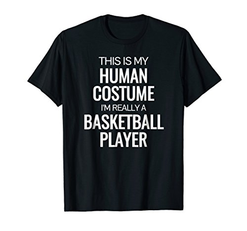 Mens Basketball player T-shirt Funny Halloween Costume shirt Small Black