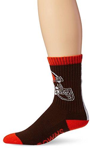 NFL Cleveland Browns '47 Bolt Sport Socks, Brown, Large (Men's 9-13 / Women's 10-12), 1-Pack ()