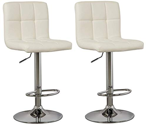 Ashley Furniture Signature Design - Bellatier Tall Upholstered Swivel Barstool - Set of 2 - Contemporary Style - White (Furniture Outdoor French Contemporary)