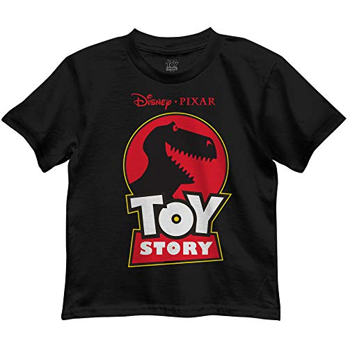 Disney Pixar Toy Story Jurassic Rex Boys Toddler Juvy Humor Funny Tee T-Shirt(Black,Large)