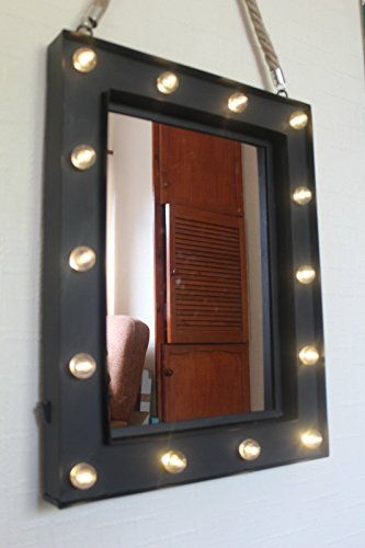 14 bulb led light up wall mirror make up mirror girls room mirror 14 bulb led light up wall mirror make up mirror girls room mirror hanging rope amazon kitchen home aloadofball Gallery