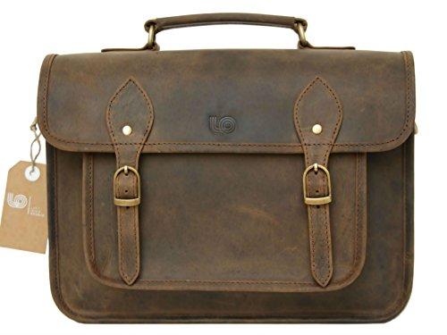 Leftover Studio DSLR Mirrorless SLR Camera Bag Case 15 inch in Rustic Crazy Horse Cow Leather by Leftover Studio