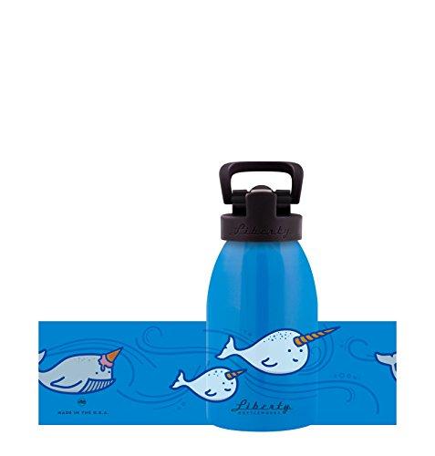 Liberty Bottleworks Brain Freeze Aluminum Water Bottle, Made in USA, 12oz, Big Sky, Sport Cap