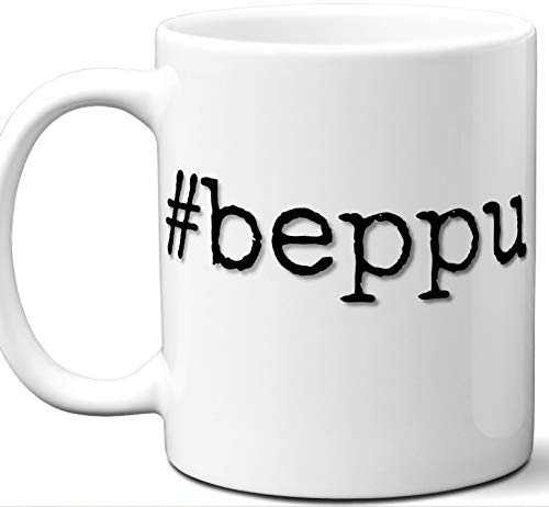 (#beppu Gift Hashtag Mug. Cool, Hip, Unique Beppu, Japan City Hash Tag Themed Tea Cup Men Women Fan Lover Birthday Mothers Day Fathers Day Christmas Coworker.)