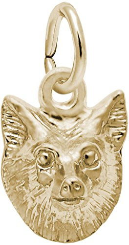 Rembrandt Fox Head Charm - Metal - Gold-Plated Sterling Silver