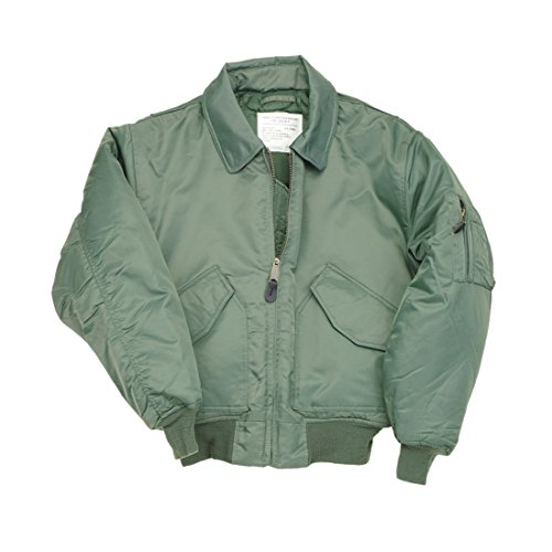 Delta Men's CWU Ma2 Flight Bomber Us Pilot Airforce Biker Security Wear Jacket XX-Large Sage Green (Fleece Pilot Jacket)