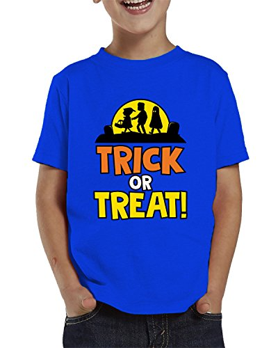 Trick Or Treat Halloween Toddler T-Shirt, SpiritForged Apparel Royal - Royal Clothing Spice