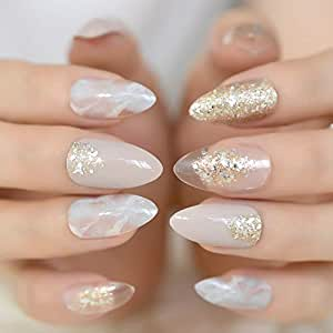Amazon.com: Stiletto - uñas postizas de CoolNail con punta ...