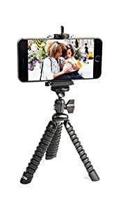 LOHA 4010580 Flexible Legs Tripod Stand with Universal Grip Mount for All iPhone and Android Phones