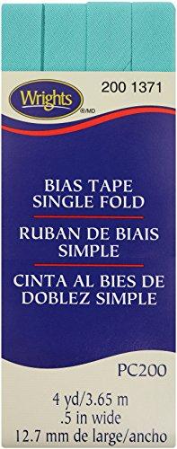 Wright Products Wrights Aquamarine II Single Fold Bias Tape 1/2 X 4yd Aquamarine Single