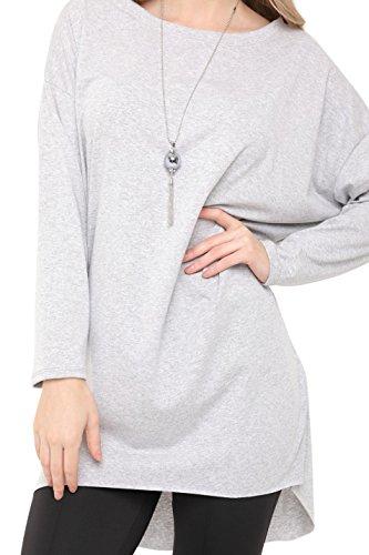 Unique gris Aftershock Femme London clair Pull Taille ICIwXxSq