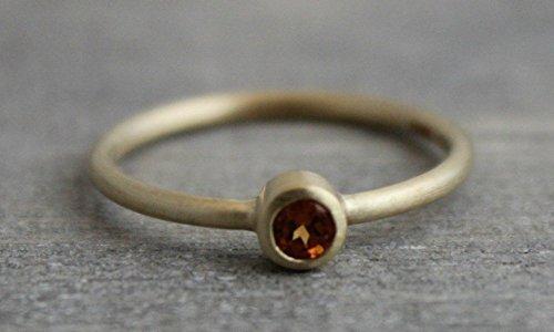Mandarin Hessonite Garnet 14kt Gold Ring Size -