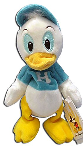 Disney Bean Bag Plush - HUEY (Blue Shirt - Walt Disney World Tag)(Donald's Ducks)(7 inch)