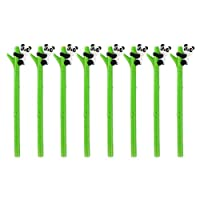 NUOLUX 8Pcs Cute Gel Ink Pen Cartoon Panda Hugs Bamboo Silicone Roller Ball Pens Black Ink 0.5mm
