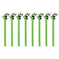 NUOLUX 8Pcs Cute Gel Ink Pen Cartoon Panda Hugs Bamboo Silicone Roller Ball Pens Black Ink 0.5mm