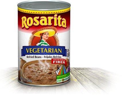 (Rosarita Refried Beans 16oz Can (Pack of 12) (Vegetarian))