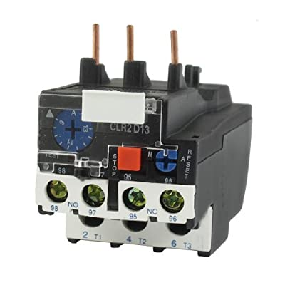 uxcell LR2-13 13A 9-13A 3-Phase 1NO 1NC Electric Thermal Overload Relay