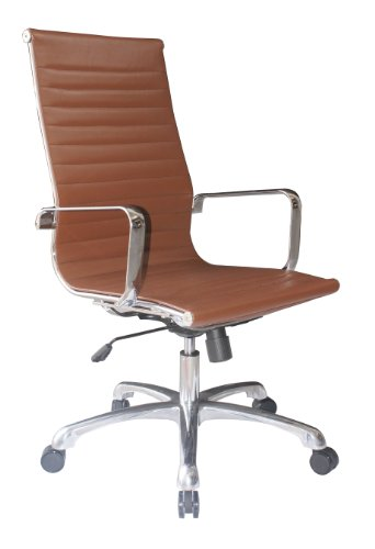 Joplin Group High Back Chair in Brown Eco Leather by Woodstock by Woodstock Marketing