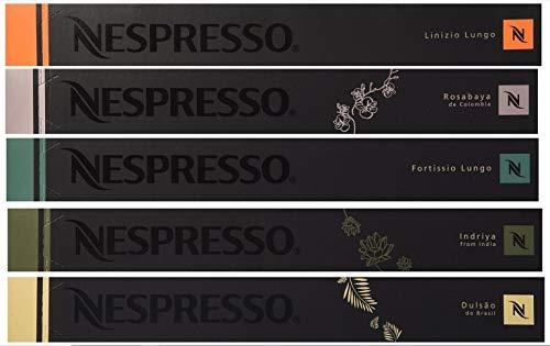 50 네스프레소 Nespresso Capsules - Luxury MIXED (New Linizio Lungo, Rosabaya, Dulsao, Indriya, Fortissio Lungo)
