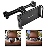 """Tryone Car Headrest Tablet Mount Holder Compatible with Smartphones/Tablets/ Switch 4.7""""-10.5"""", Headrest Posts Width 4.1in-5.9in(Black)"""